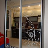 Зеркало с рисунком из стекла Спб