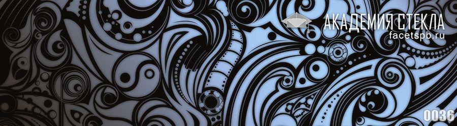 фото для стеклянного фартука узор абстракция