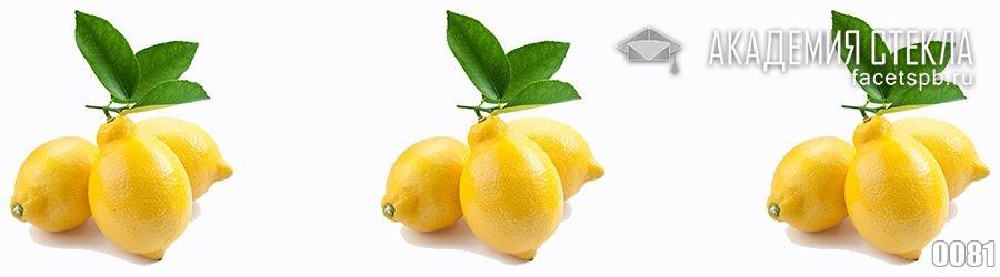 Фото для стеклянного фартука лимон