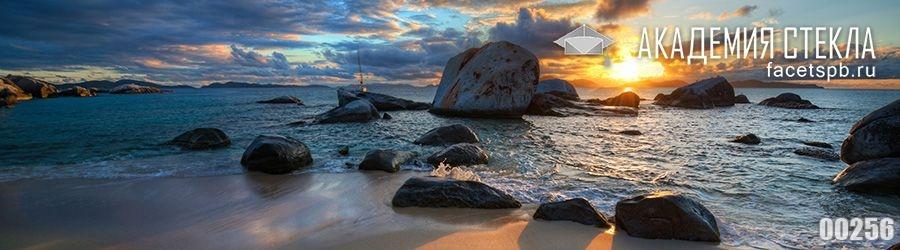 фото для фартука море камни закат