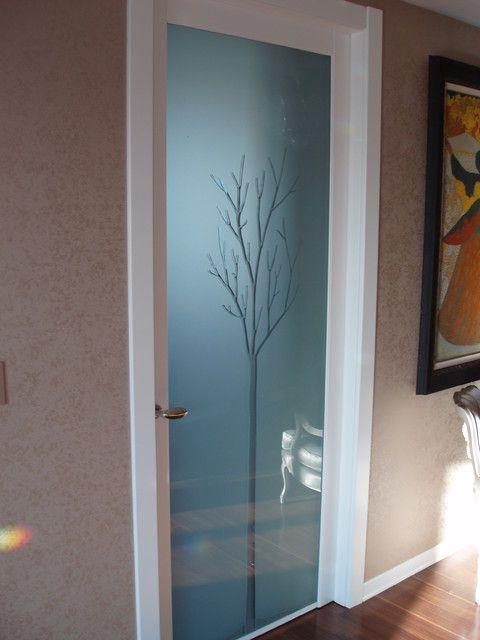 межкомнатная стеклянная дверь с фотопечатью