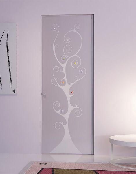 Стеклянная дверь с рисунком