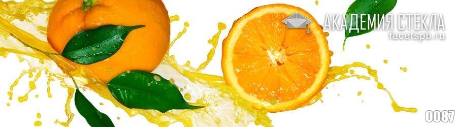 Фото для стеклянного фартука апельсин