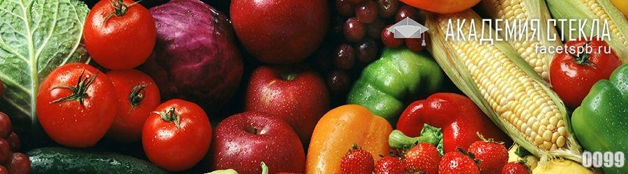 Фото для стеклянного фартука овощи и фрукты