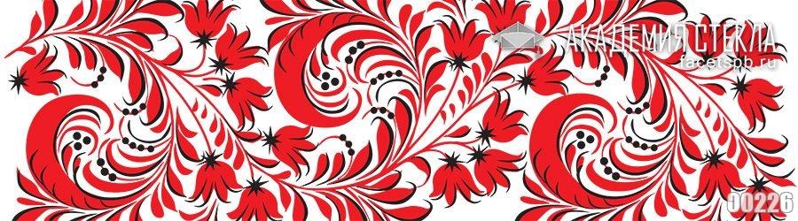 Фото для фартука красный узор