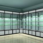 Стеклянные витрины стеллажи