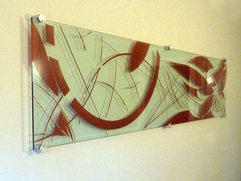 Декоративная панель из стекла